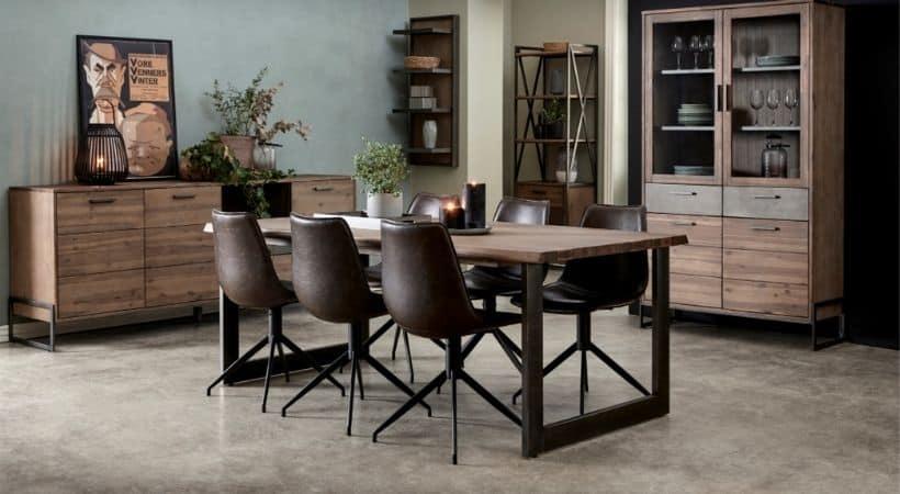 Retro spisebordsstole med drejefod