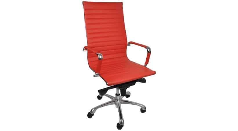 Rød designer-kontorstol