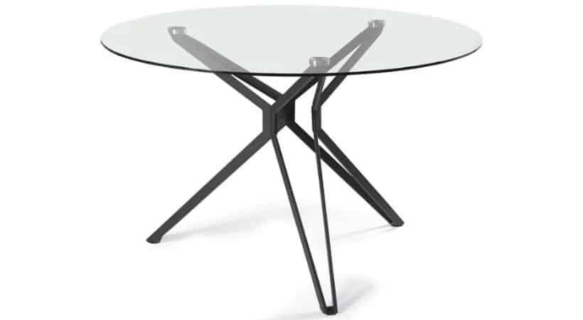 Spisebord i glas (glasplade)