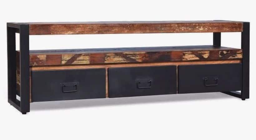 TV-bord i genbrugstræ - Teak