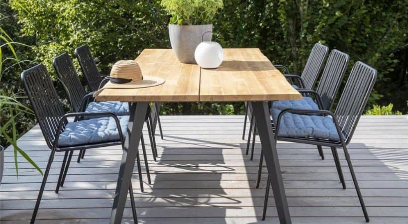Udendørs plankebord - Havebord med planker