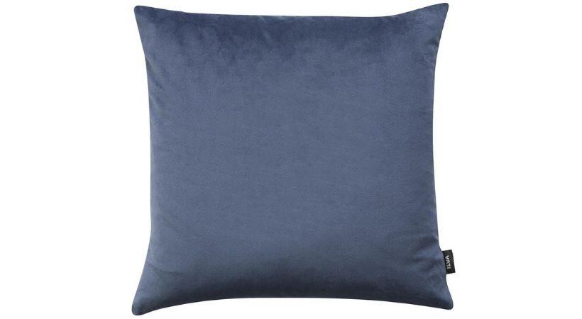 40x40 pudebetræk i blåt polyester-velour
