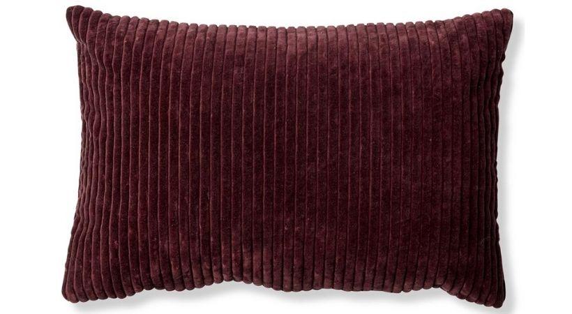 Aflangt pyntepudebetræk (40x60) - Vinrød