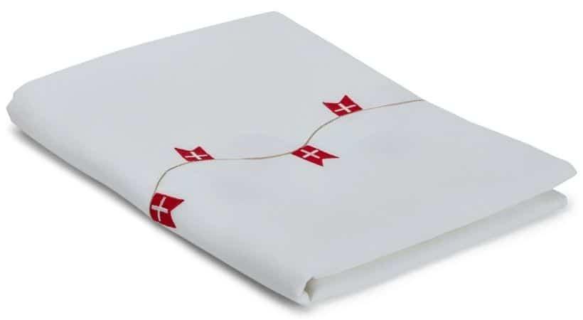 Fødselsdagsdug - Hvid dug med flag