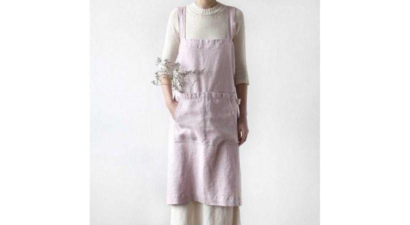 Gammeldags forklæde - Smukt pink retro-design