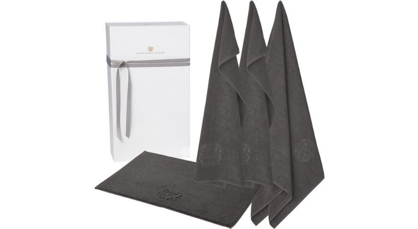 Georg Jensen gaveæske - 3 håndklæder og 1 bademåtte