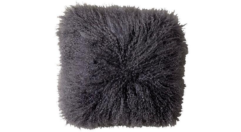 Grå pelspude - 40x40