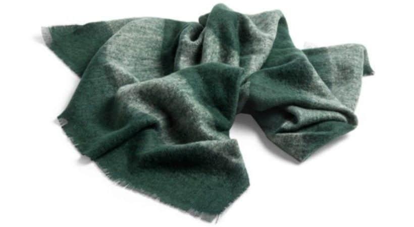 Grøn mohair plaid