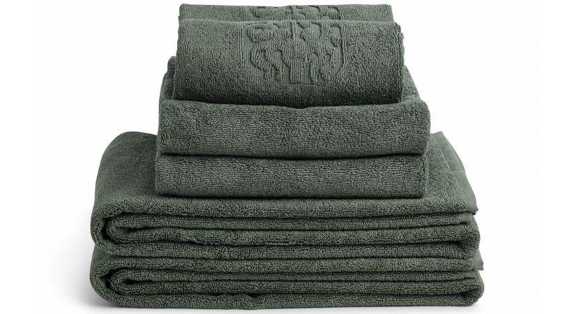 Grønt frottéhåndklæde
