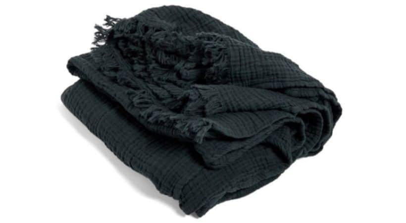 Hay Crinkle plaid - Mørkegrå