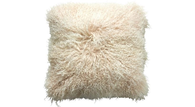 Hvid pelspude - 40x40