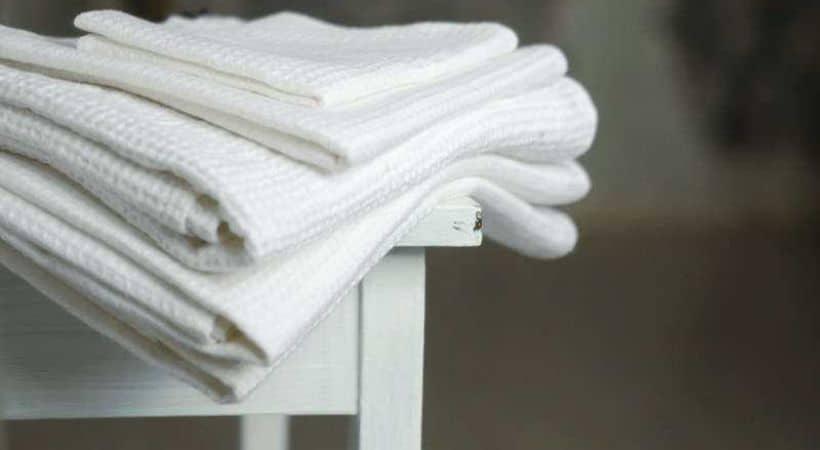 Små og billige hvide håndklæder - Waffle