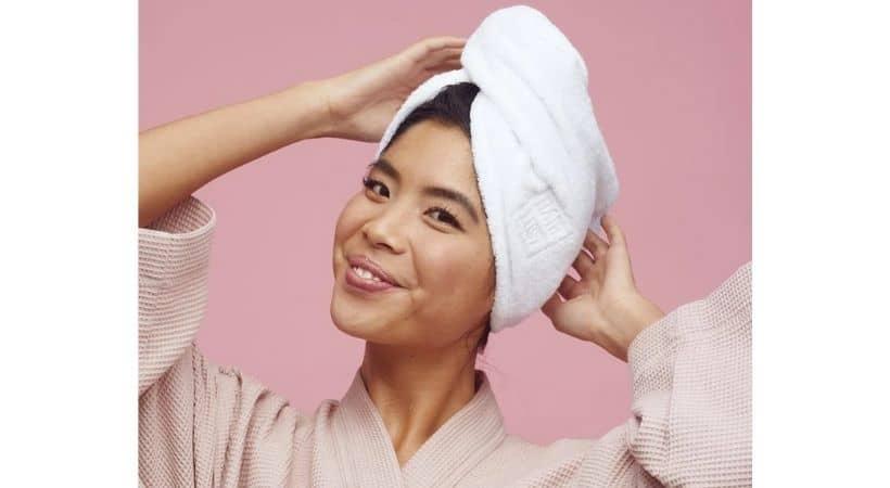 Turban-håndklæde - Bambus og bomuld