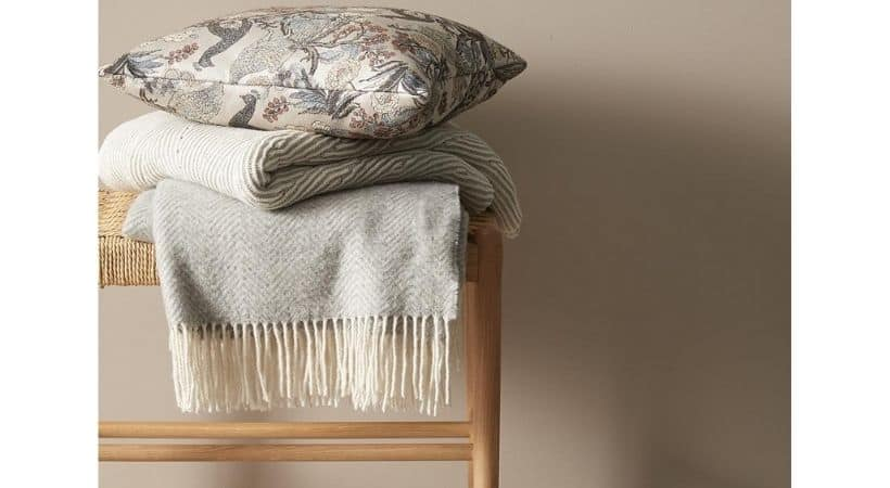 Uldtæppe - Plaid i merino-uld og polyester