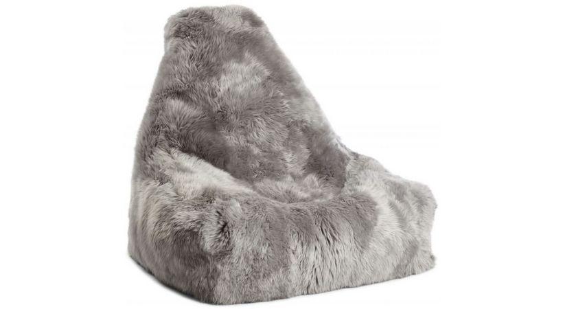 Sækkestol med pels - Formet som en stol