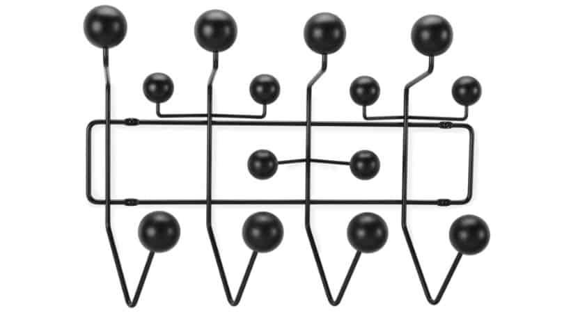 Sort Charles Eames knagerække - Hang It All