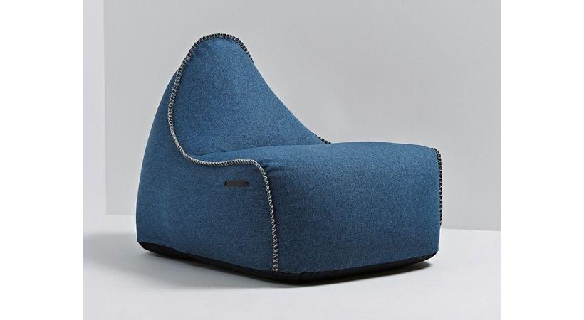 Stor blå sækkestol (voksen) - SACKit Medley