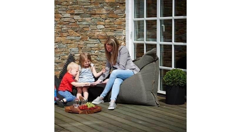 Stor sækkepude - Til både indendørs og udendørs brug