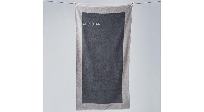 Badehåndklæde med navn - Georg Jensen