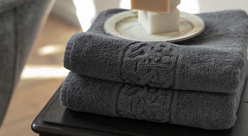 Gråt gæstehåndklæde - Georg Jensen Damask
