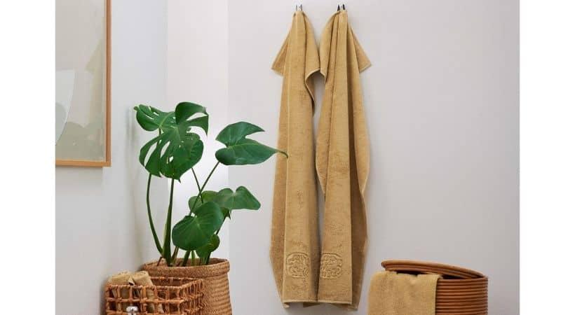 Gult gæstehåndklæde - Egyptisk bomuld