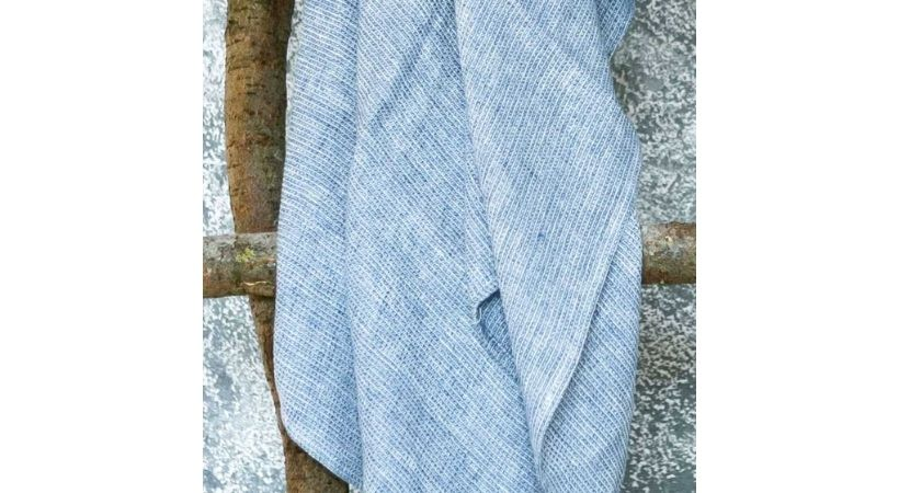Lækkert blåt gæstehåndklæde - Bæredygtigt hør
