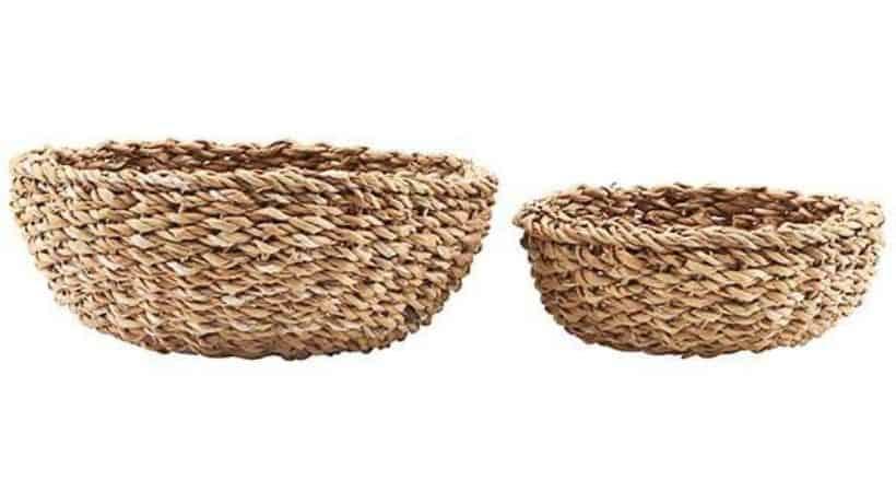 Billige og rustikke brødkurve i flet