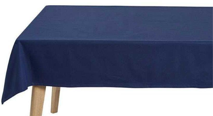 Blå rund dug - Ø 160 cm