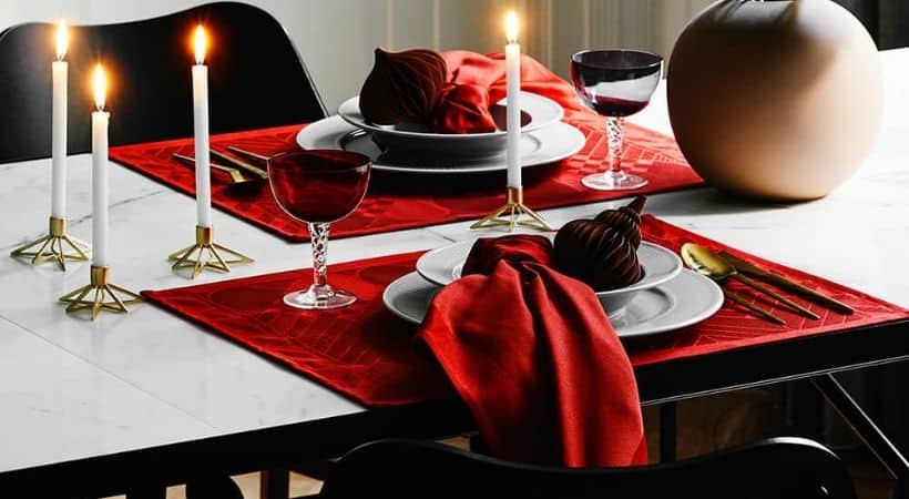 Røde juledækkeservietter - Georg Jensen