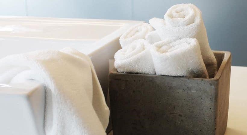 Billig og lækker hvid vaskeklud