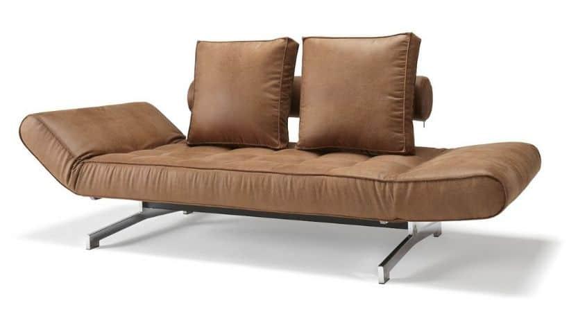 Sovesofa i dansk design (læder-look) - Ghia