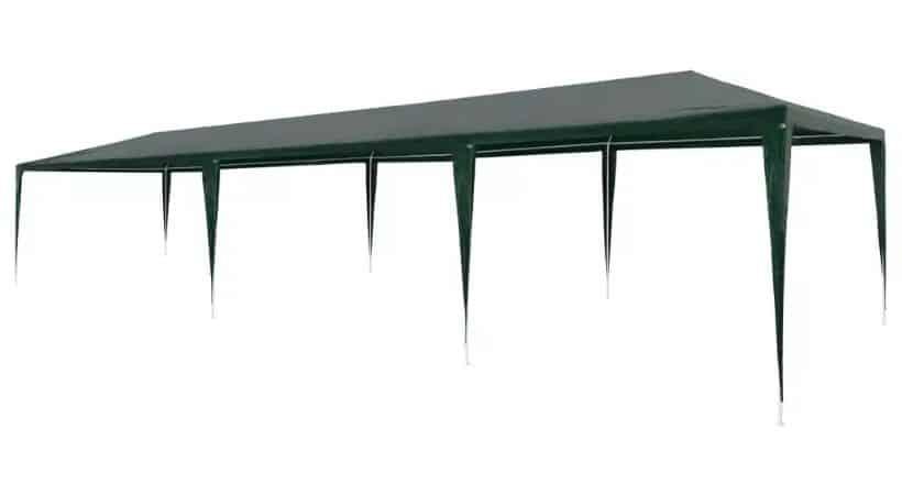 Partytelt uden sidevægge - 3x9 meter