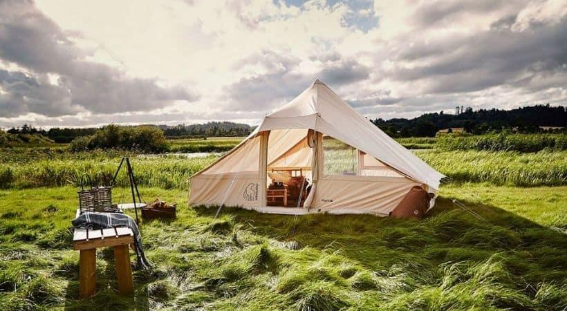 Stort glamping-telt fra Nordisk - 4-6 personer