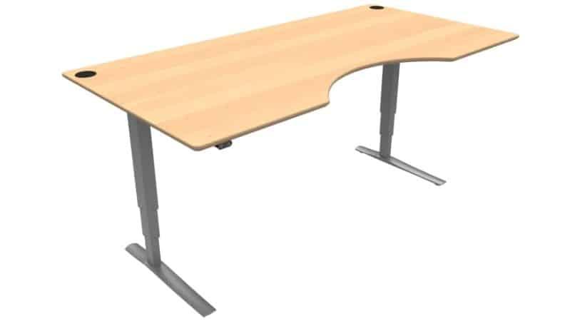 Hæve-sænkebord med centerbue - Conset 501-43