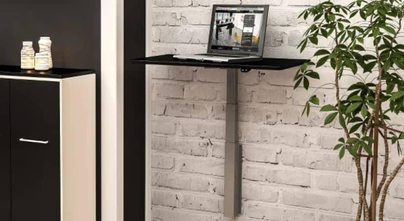 Lille væghængt hæve-sænkebord - Dencon
