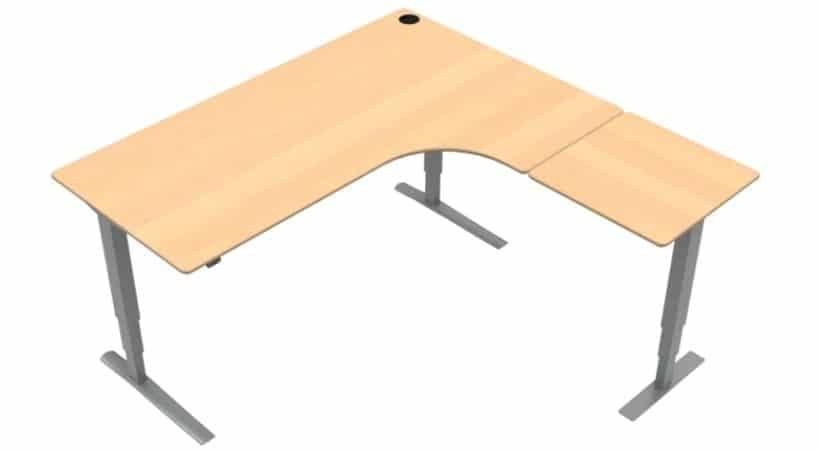Stort Conset hæve-sænkebord til hjørne - Træ