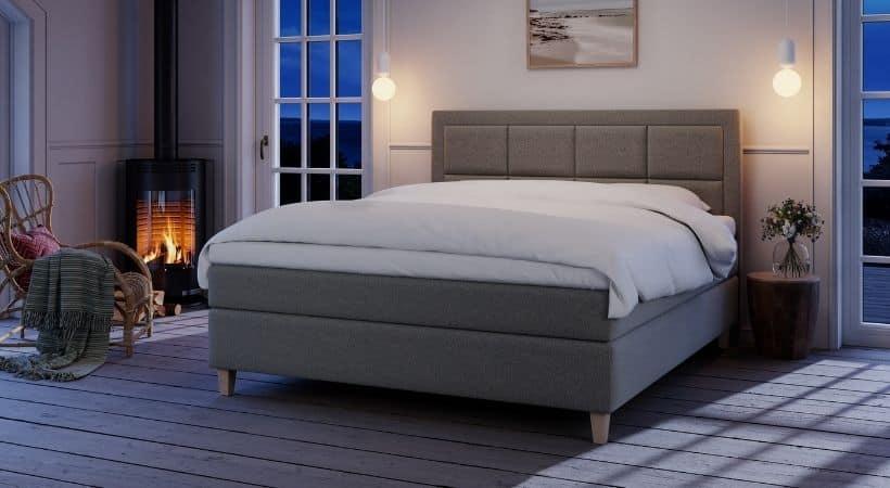 Tindra - Eksklusiv seng med høje eller lave ben (valgfri)