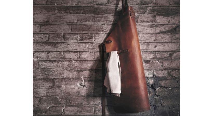 Witloft forklæde i læder - Cognac