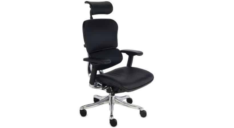 ErgoHuman - Verdenskendt ergonomisk skrivebordsstol i læder