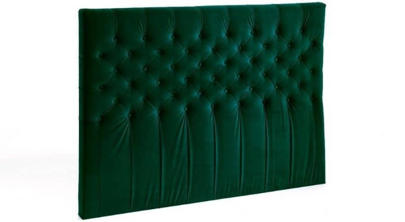 Velour sengegavl - Grøn